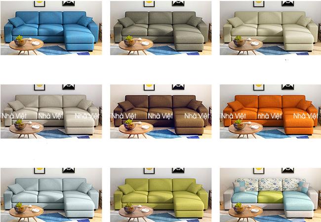 Sofa nỉ mã 090
