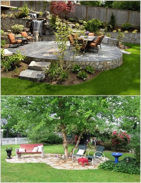 Nhà vườn đẹp đơn giản trang trí bằng đá xanh 5