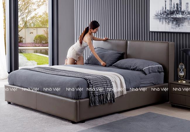 Sản phẩm cần bán: Bán mẫu giường ngủ bọc da DF1 giá rẻ chất lượng tốt tại Nhà Việt 53