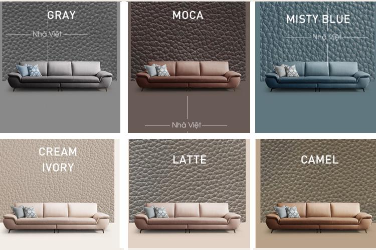 Sofa da dạng văng 3 chỗ mã 193