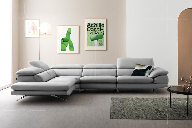 Sofa da phòng khách rộng DH-42