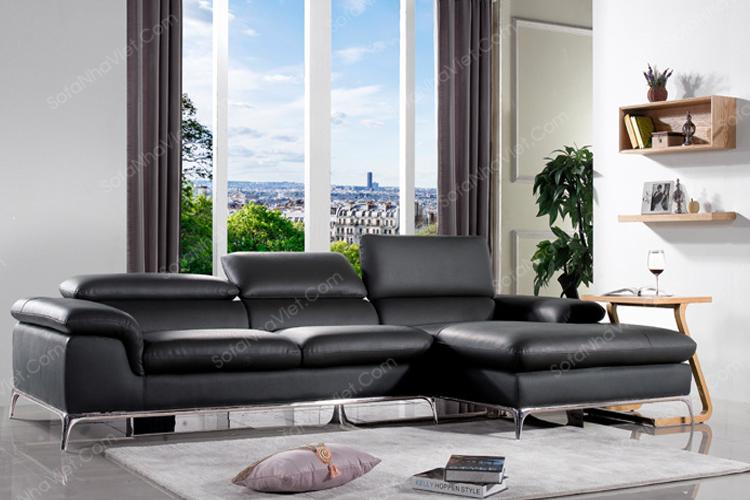 Sản phẩm cần bán: Lý do nhiều khác hàng thích sử dụng sofa da phòng khách màu đen 67