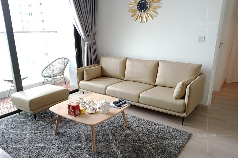 Bàn giao ghế sofa gia đình anh Hùng - Chung cư Metropolis Liễu Giai
