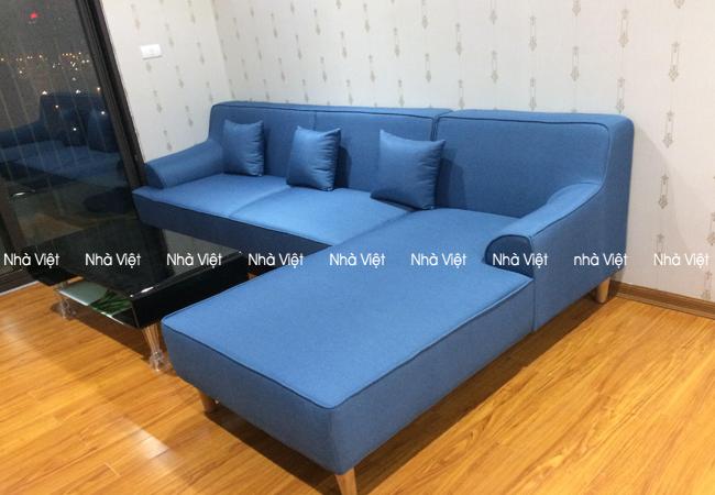 Bàn giao sofa góc vải nhà anh Quỳnh Packexim Nhật Tân