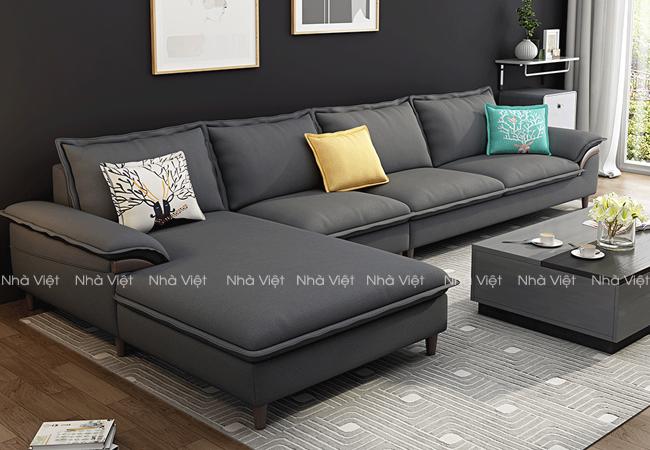 Sofa nỉ màu đen mã 1116