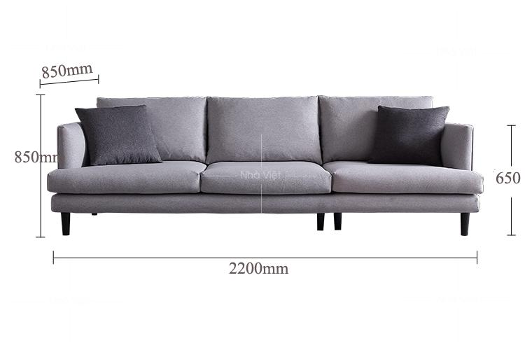 Sofa văng màu ghi sáng mã 359