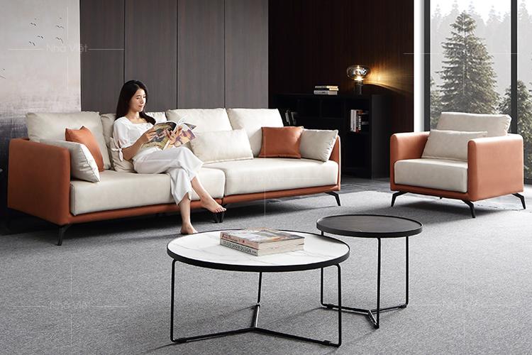 Sofa nỉ thiết kế 2 ghế N16