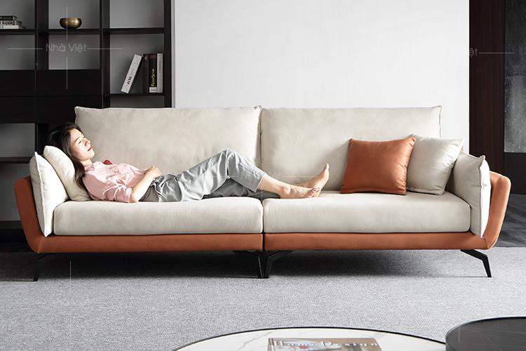 Sofa nỉ phối hai màu N11