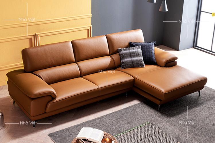 Sofa phòng khách màu da bò mã 146
