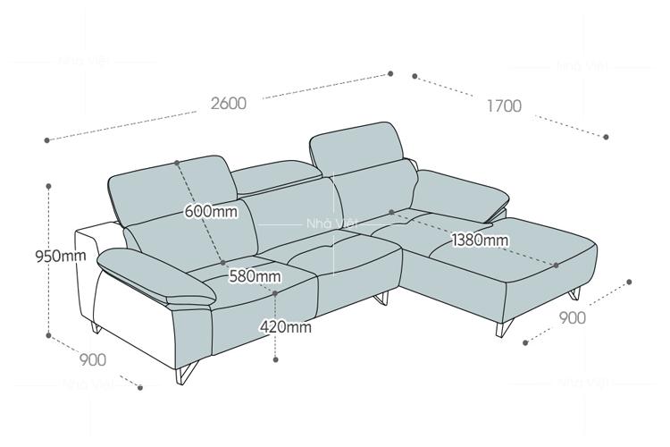 Sofa phòng khách màu xanh navy mã 152