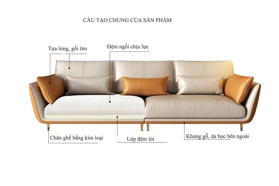 Sofa phòng khách chung cư P45
