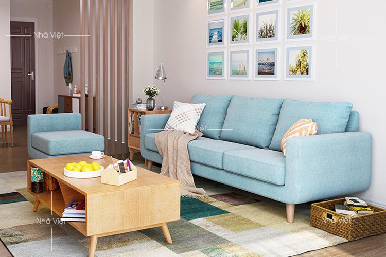 Sofa vải phòng khách 15m vuông mã 341