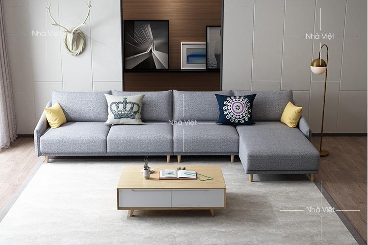 Sofa vải góc chữ L mã 345