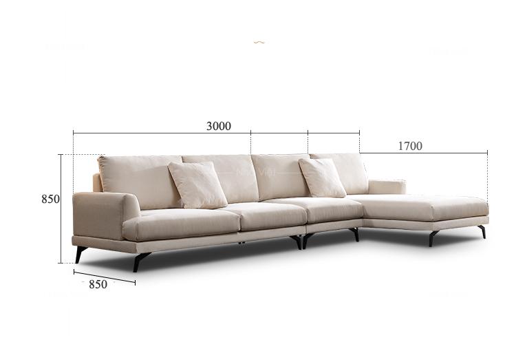 Sofa vải màu kem VG53
