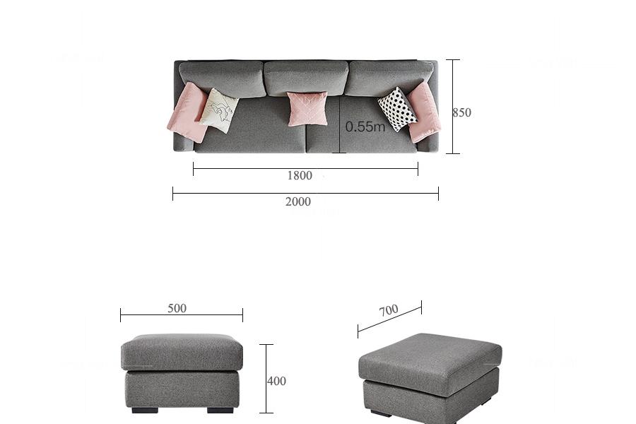 Sofa vải phòng khách nhỏ VG 20