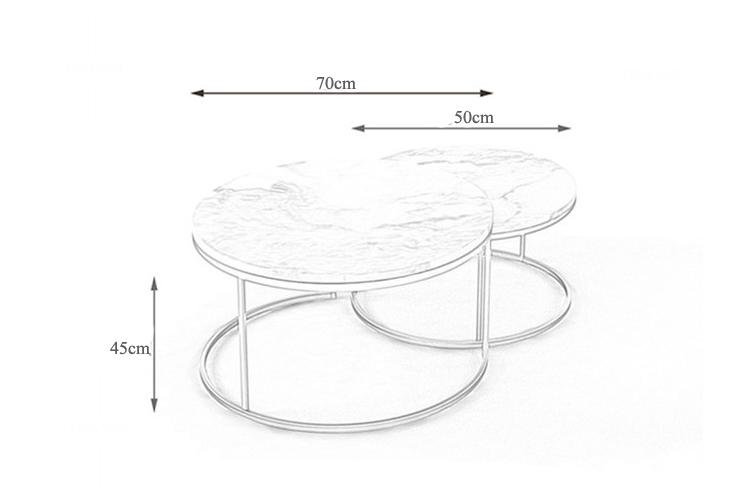 Bàn trà sofa khung mạ đồng TF-03