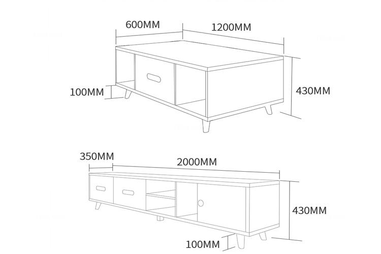 Bàn trà sofa phòng khách BT-27