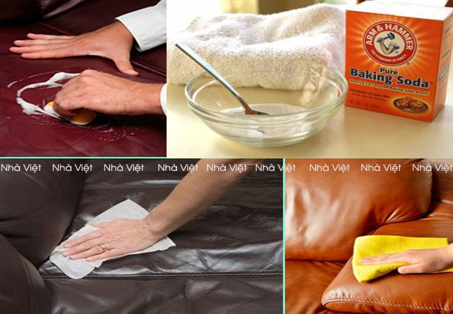 Kinh nghiệm làm sạch sofa da bị dính mực