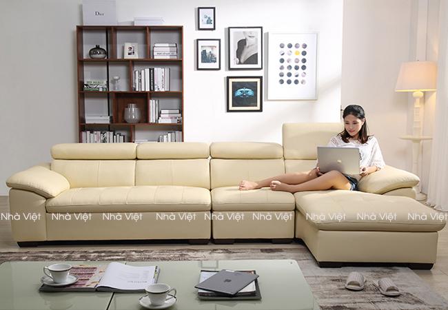 Các mẫu bàn ghế sofa da phòng khách đẹp hiện nay