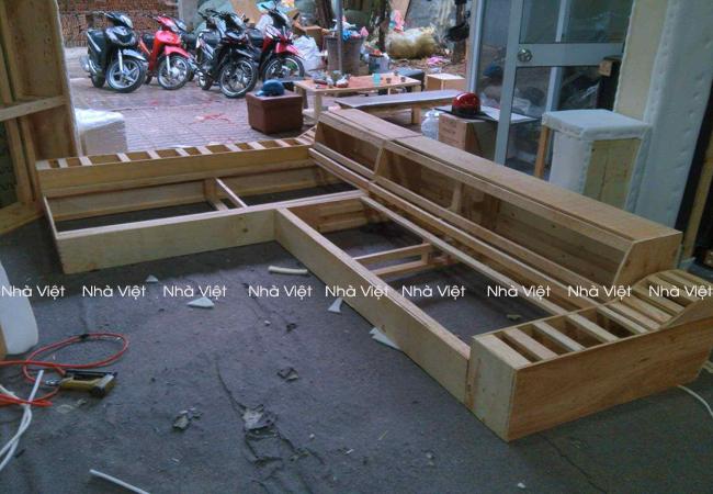 Quy trình dựng khung ghế sofa cao cấp tại Nhà Việt