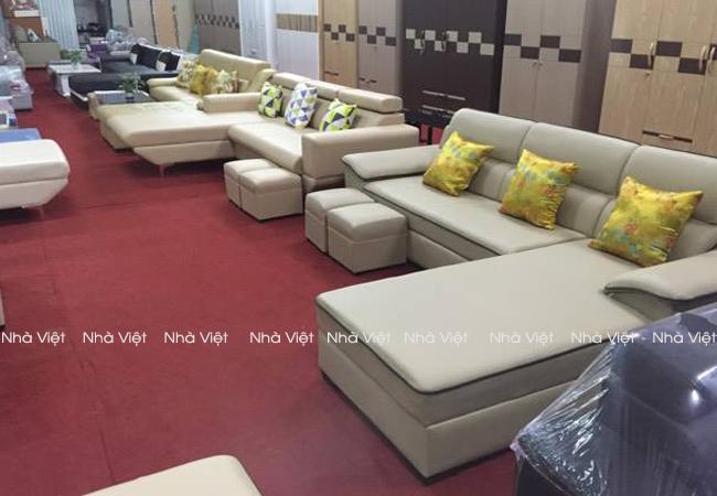 Chi phí cho bộ bàn ghế sofa da thật là bao nhiêu