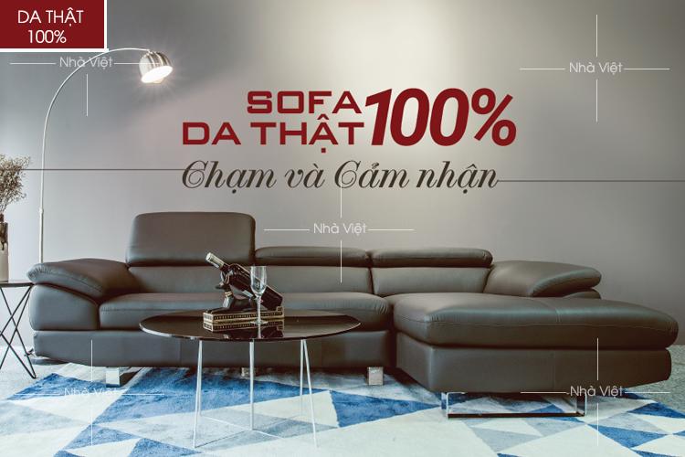 Mua bàn ghế sofa da thật 50% tiết kiệm chi phí cho gia đình